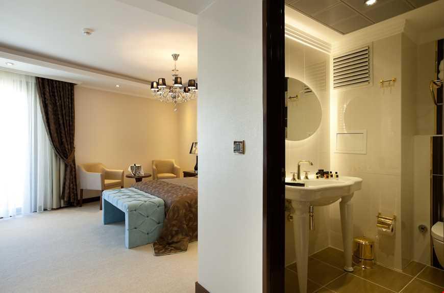 Suit oda, 48 m2 genişliğindedir.