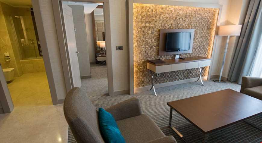 Suite Family Oda 55 m² genişliğindedir.