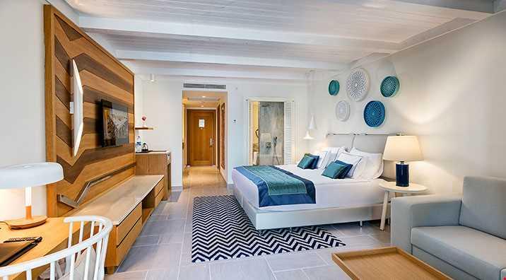 Standart odalar 35 m2 genişliğindedir.